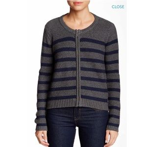 Joie Endora wool cashmere knit jacket zip cardigan